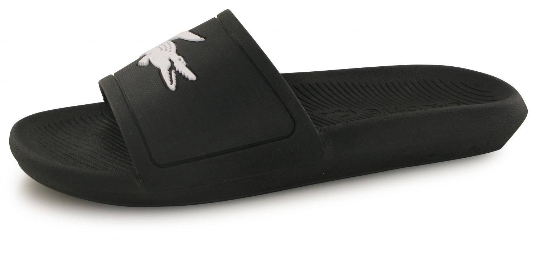 12150f03d1 Claquettes Lacoste Croco Slide Noir / Blanc