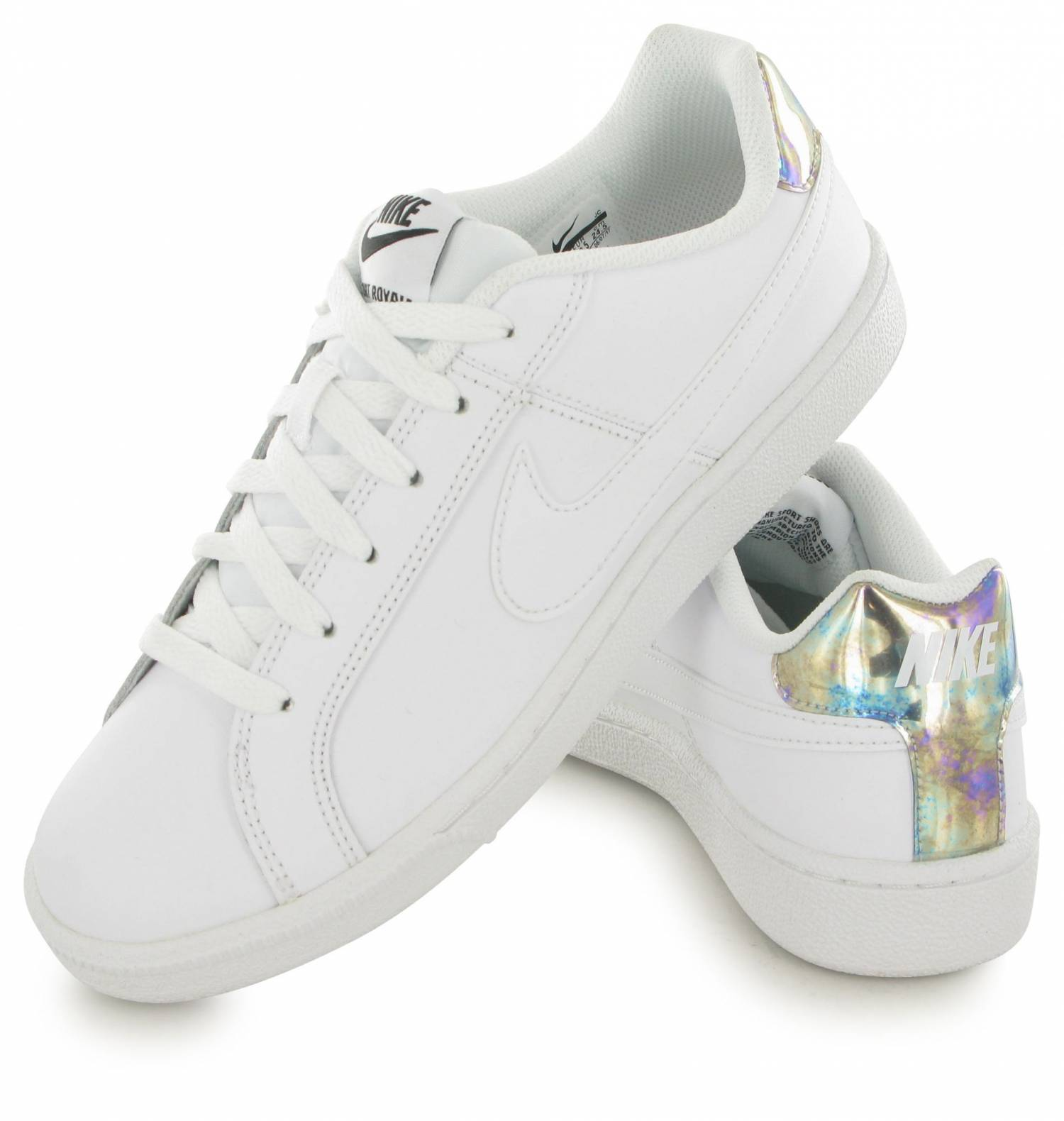 new arrivals 7b07c b36df Nike Court Royale Blanc   Argent. Zoom