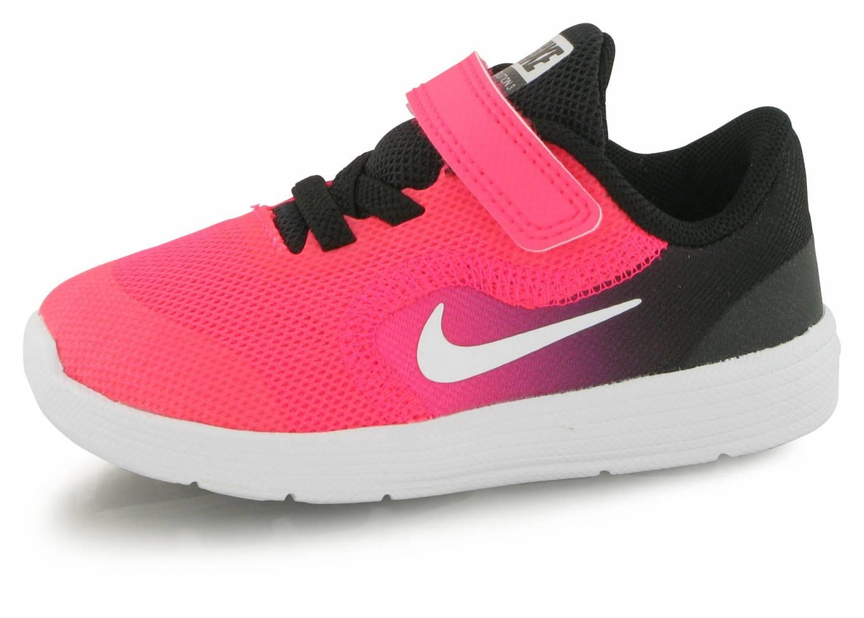 promo code a7913 1c012 Nike Revolution 3 Bb Bebe Noir   Rose
