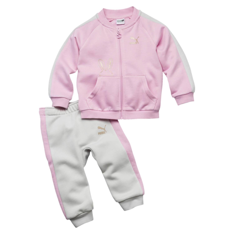 sensation de confort Conception innovante bébé Survêtement Puma Mini Easter Jogger Rose / Gris Bebe