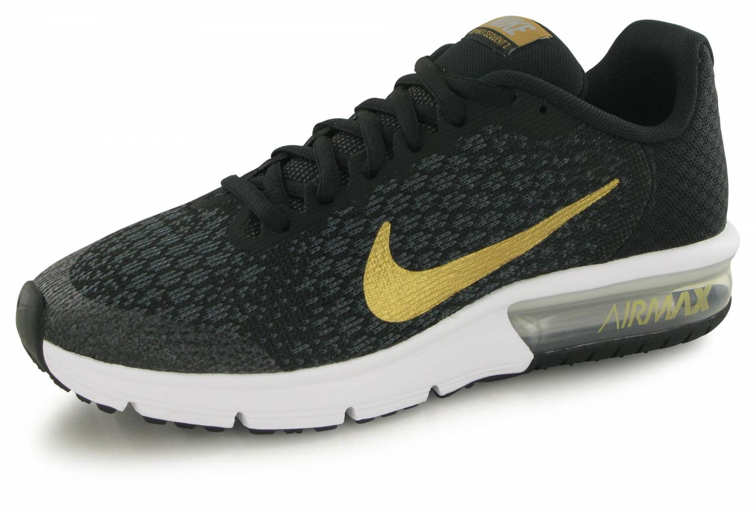 Nike Air Max Sequent 2 Junior Noir Or
