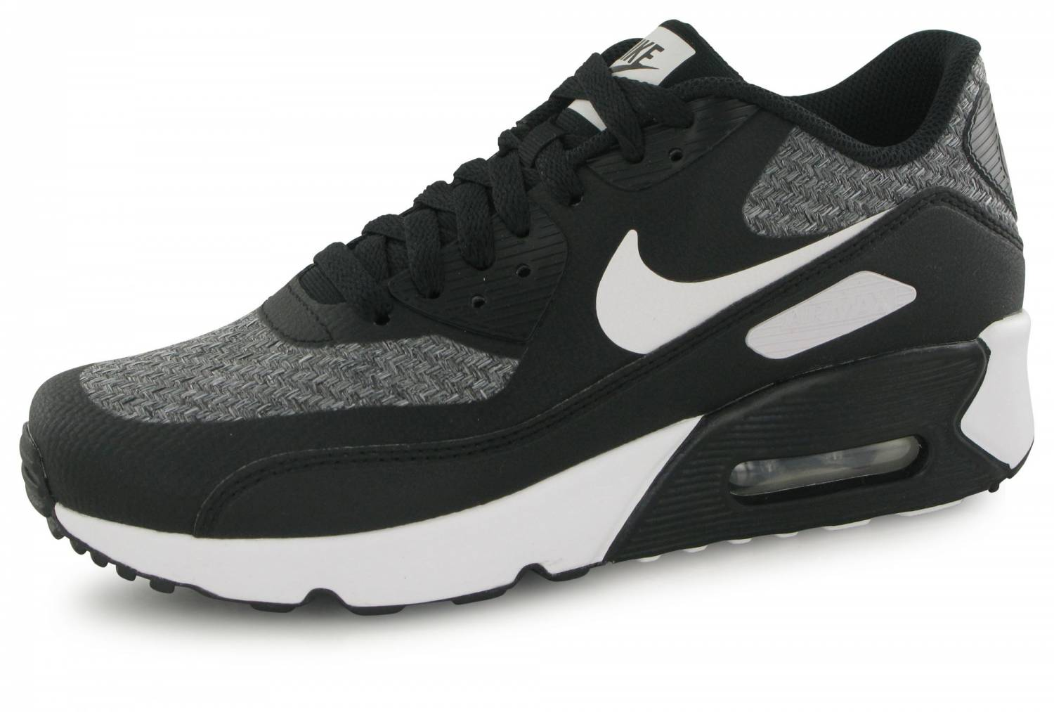 new arrival d8319 b655f Nike Air Max 90 Ultra 2.0 Se Junior Noir   Gris   Blanc