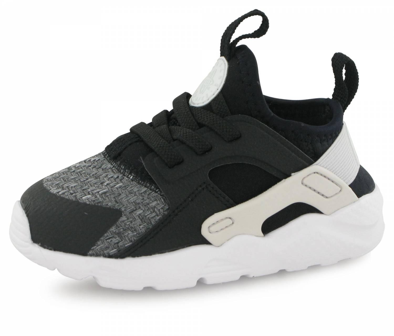 50% price uk cheap sale detailed look Nike Huarache Run Ultra Se Bb Bebe Noir / Gris / Blanc