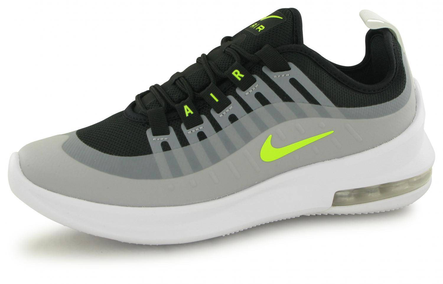 meilleures baskets a8d33 5f5a2 Nike Air Max Axis Noir / Gris / Jaune Junior