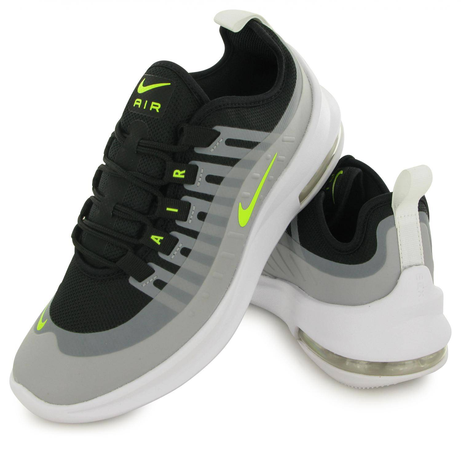 Nike Air Max Axis Noir Gris Jaune Junior