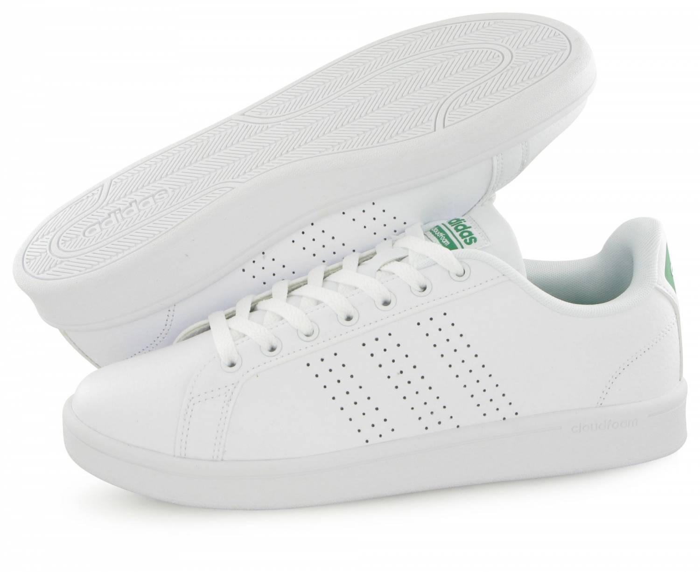 Adidas Neo Cloudfoam Advantage Blanc & Vert