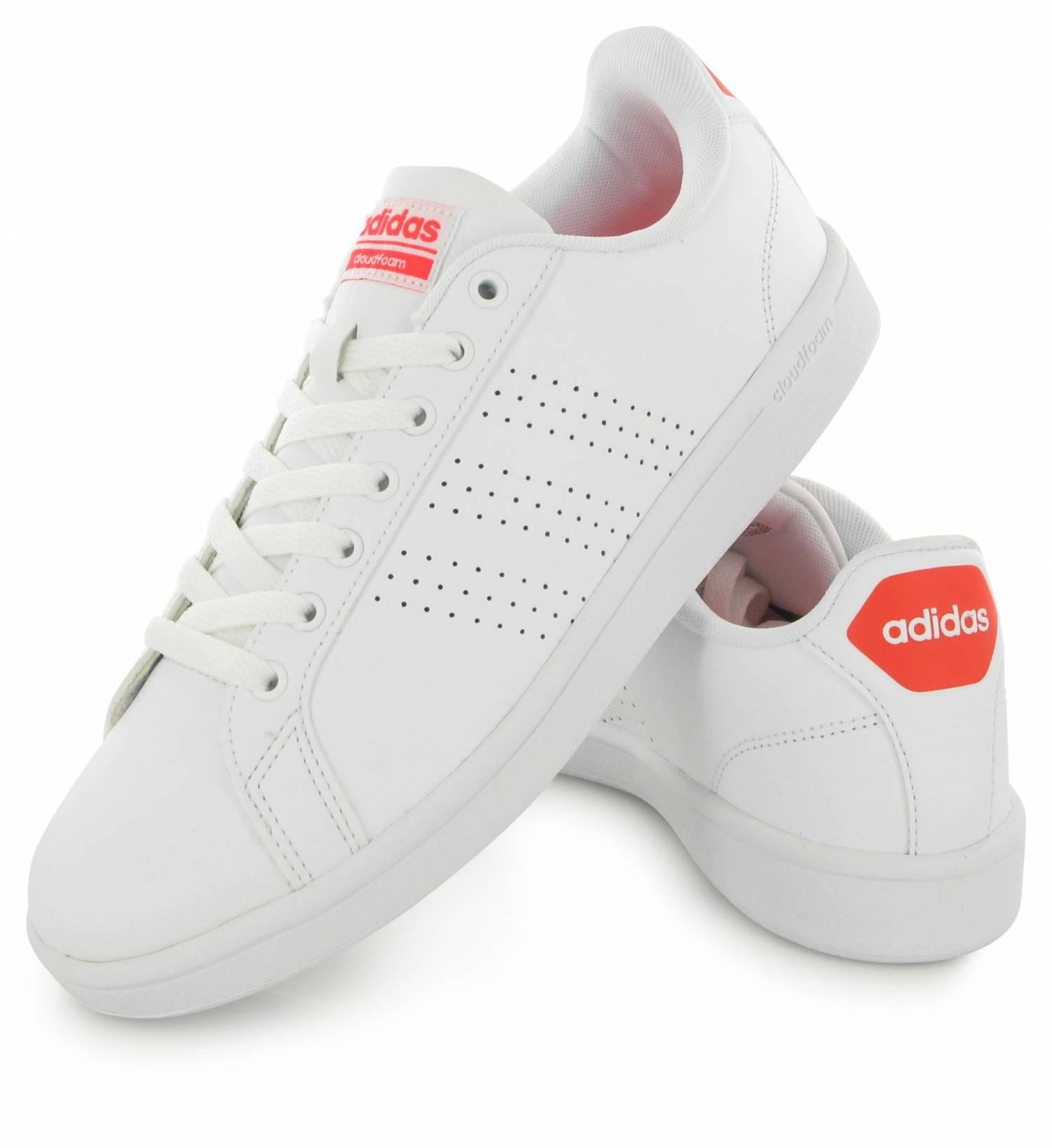 Adidas Neo Cloudfoam Advantage Blanc & Rouge Sol