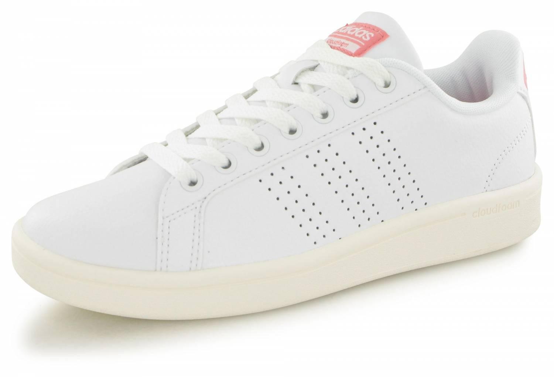 Adidas Neo Cloudfoam Advantage Blanc & Rose