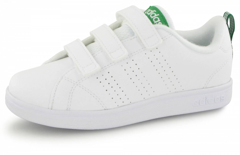 new style 2ad59 46e55 ... sweden adidas neo advantage clean velcro junior blanc vert a6ba8 b466e