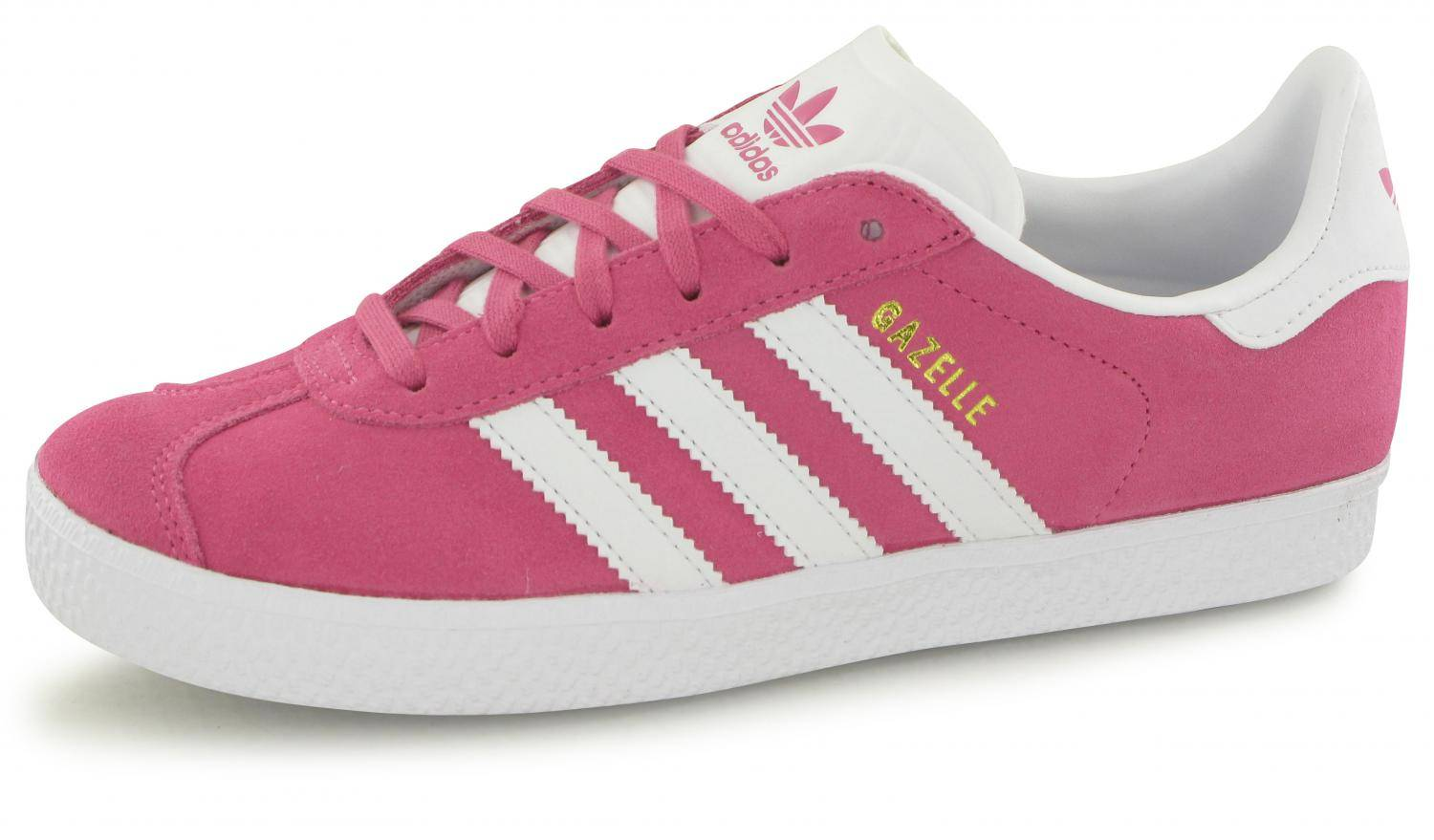 chaussures de sport 64fe9 1e83f Adidas Gazelle Rose / Blanc Junior