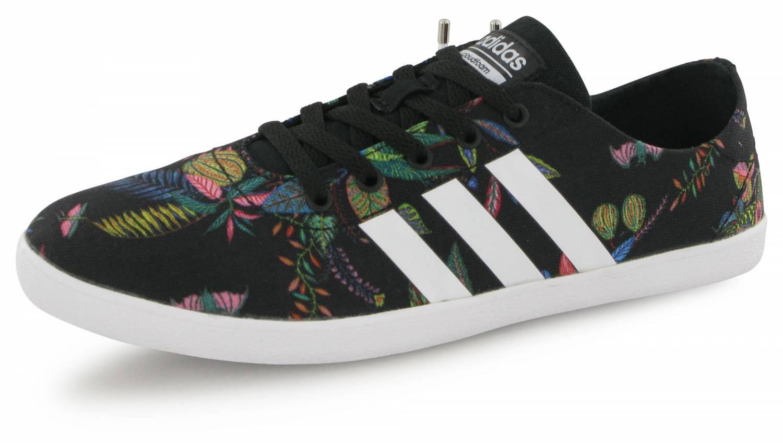 Adidas Neo Cloudfoam Qt Vulc Noir Floral