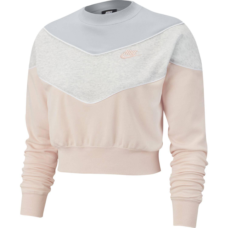 Sweat Nike Sportswear Heritage Gris / Rose