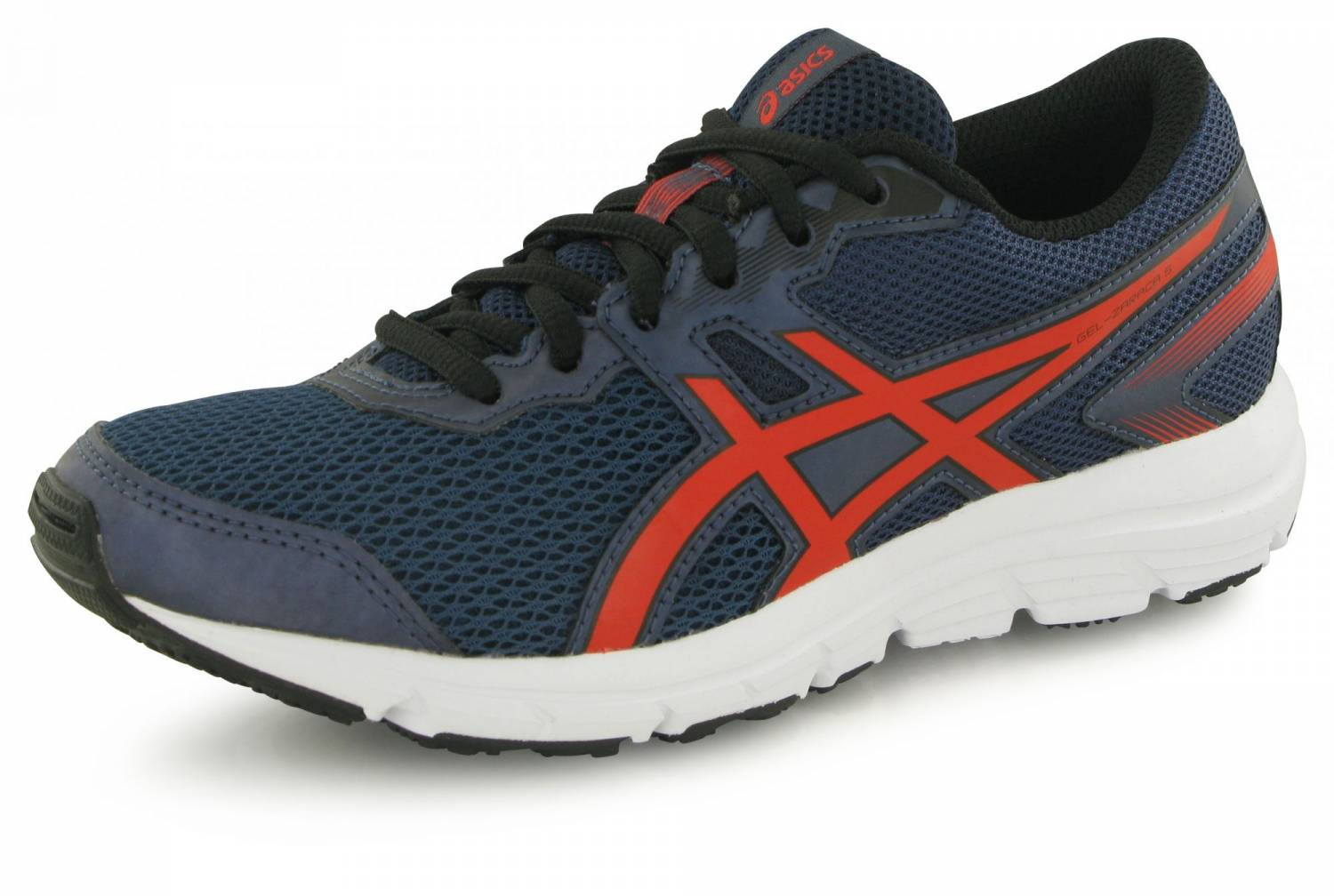 Baskets Asics Gel Zaraca S bleues et rouges