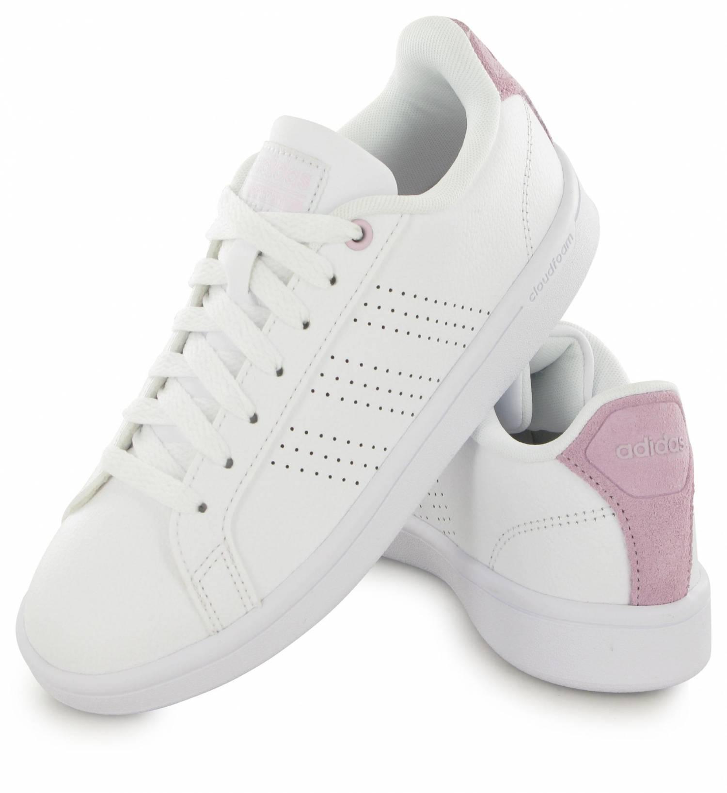 Adidas Neo Cloudfoam Advantage Clean Blanc / Rose