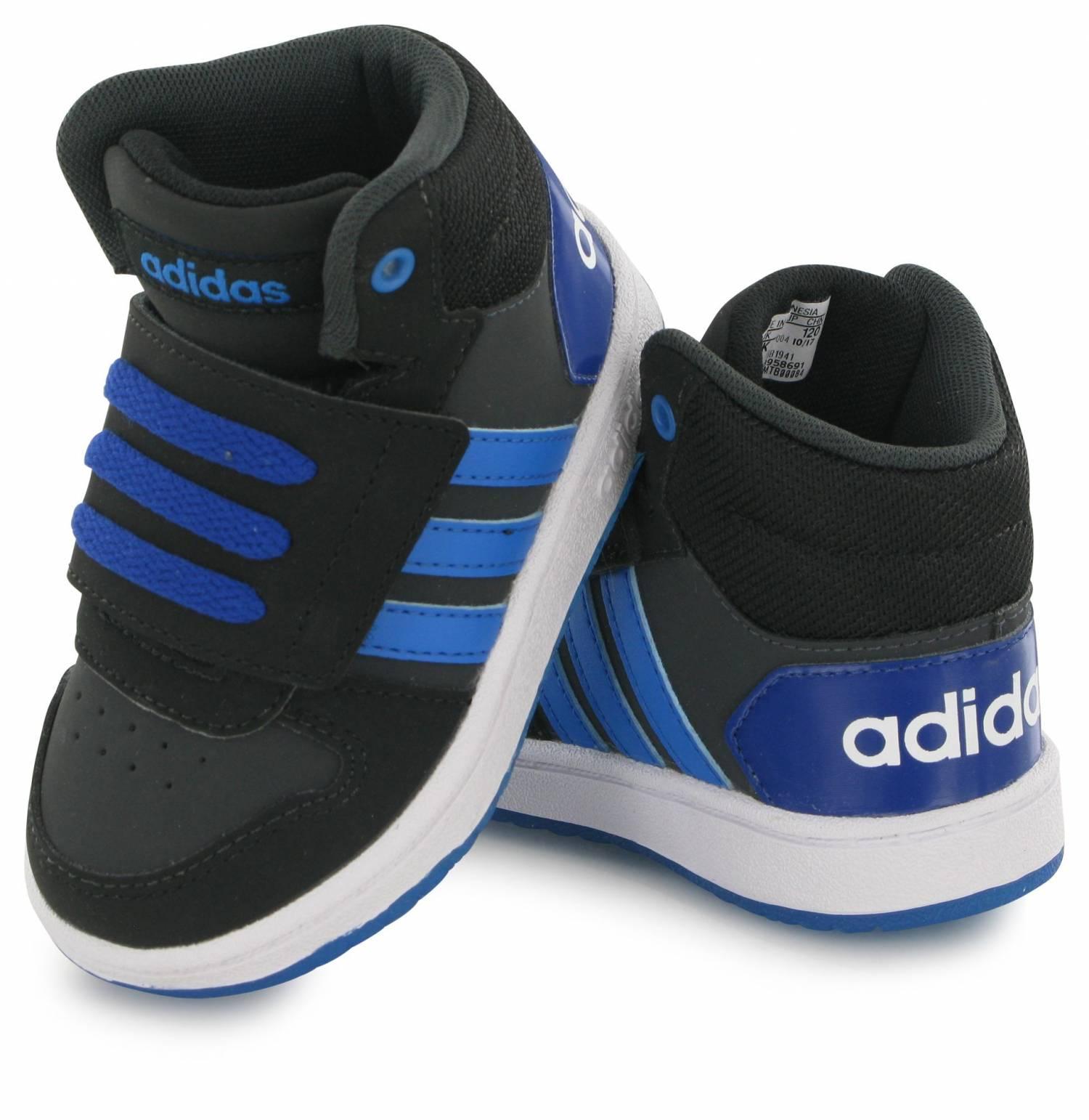 Adidas Neo Hoops Mid 2.0 Bebe Noir Bleu
