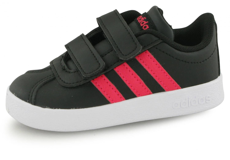 mejor servicio zapatos de separación elige lo último Adidas Vl Court 2.0 Anthracite / Rose Bebe