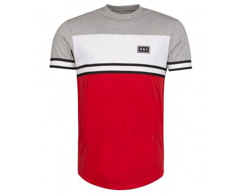 T-shirt Unkut Bridge Gris / Rouge