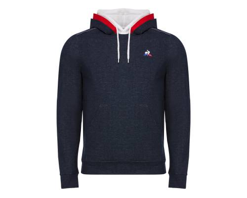 Sweat Le Coq Sportif Tricolore Hoody Denim Bleu