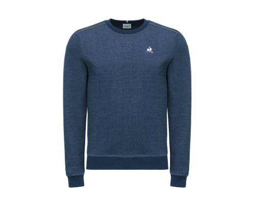 Sweat Le Coq Sportif Tricolore Denim Bleu