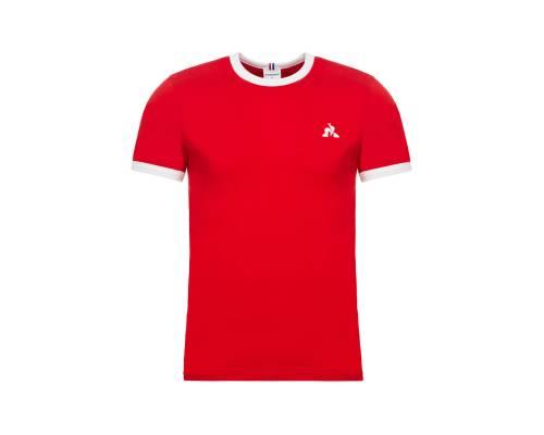 T-shirt Le Coq Sportif Essentiels Rouge / Blanc