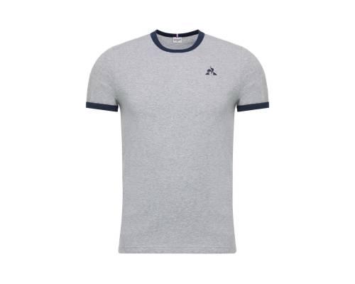 T-shirt Le Coq Sportif Essentiels Gris / Bleu