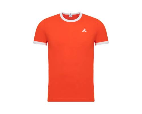T-shirt Le Coq Sportif Essentiels Orange / Blanc