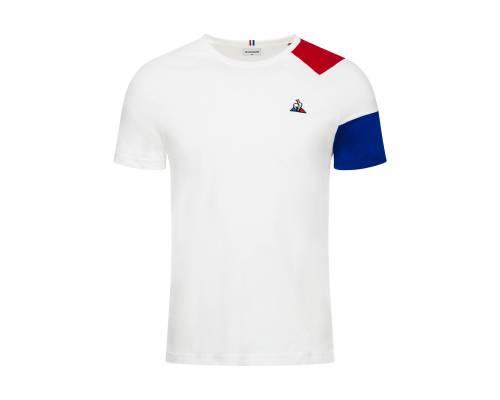 T-shirt Le Coq Sportif Essentiels Blanc / Tricolore