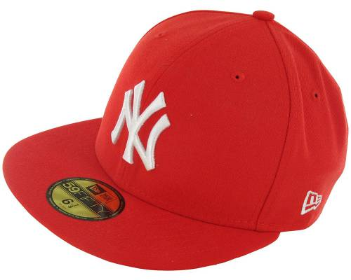Casquette New Era Casquette Basic Mlb Ny Yankees Rouge