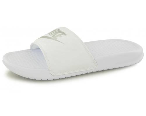 Claquettes Nike Benassi Jdi Blanc / Argent