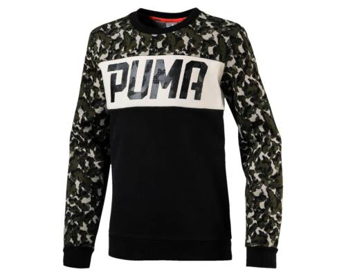 Sweat Puma Style Crew Noir / Camo