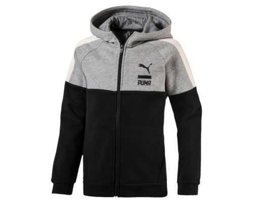 Veste Puma Style Fz Hoody Gris / Noir