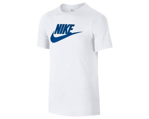 T-shirt Nike Logo Blanc / Bleu