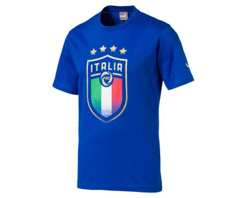 T-shirt Puma Italia Badge Bleu