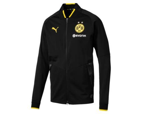 Veste Puma Dortmund Stadium 2017-18 Noir / Jaune