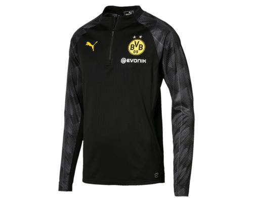 Training top Puma Borussia Dortmund 1/4 Stadium 2017-18 Noir