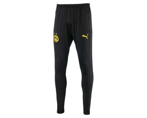 Pantalon Puma Dortmund 2017-18 Noir / Jaune Cyber