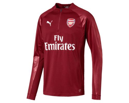 Training top Puma Arsenal 1/4 Top Wi 2017-18 Rouge