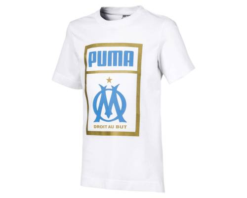 T-shirt Puma Om Fan Shoetag Blanc Junior