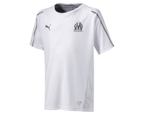 Maillot Puma Om Training 2018-19 Blanc Junior