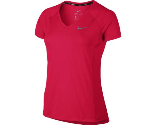 T-shirt Nike Miler V Neck Rouge