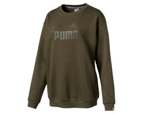 Sweat Puma Ess Logo Olive