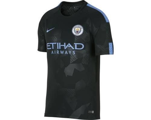 Maillot Nike Manchester City Third 2017-18 Noir / Bleu