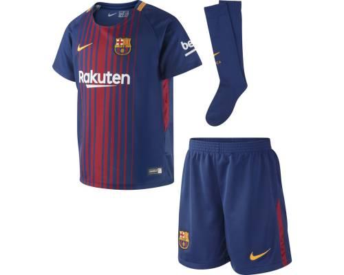 Ensemble Nike Barcelone Domicile 2017-18 Bleu Royal / Rouge