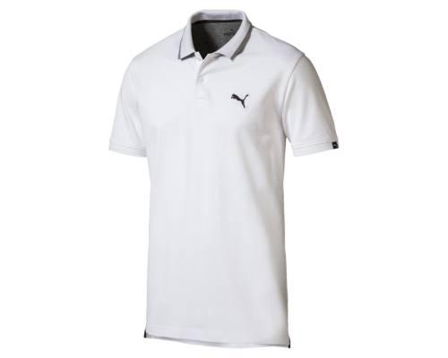 Polo Puma Fd Ess Pique Blanc
