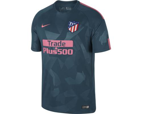 Maillot Nike Atletico Madrid Third 2017-18 Bleu / Rose
