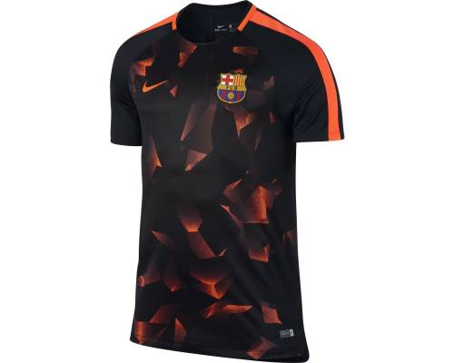 Maillot Nike Barcelone Training 2017-18 Noir / Orange