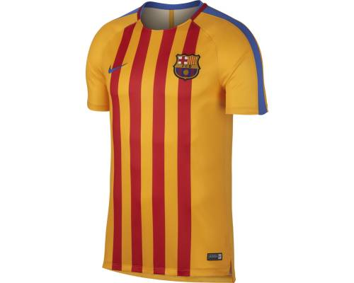 Maillot Nike Barcelone Training 2017-18 Or / Rouge