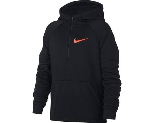 Sweat Nike Dry Hoodie Qz Noir / Orange