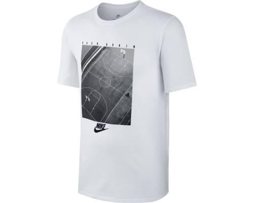 T-shirt Nike Nsw Pressn Blanc / Noir