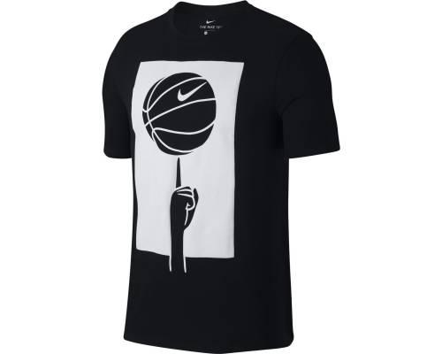 T-shirt Nike Spinning Ball Noir